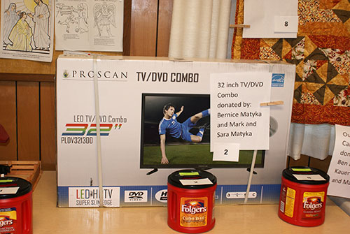 tv donated for large raffle