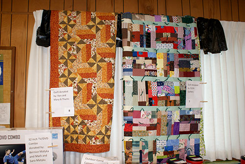two quilts for large raffle