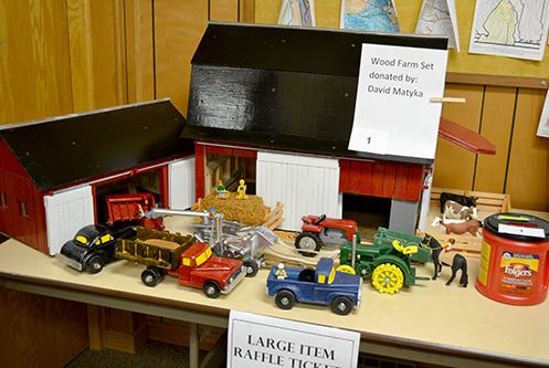hand-crafted wooden farm set