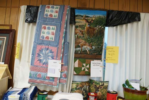 two beautiful quilts are large raffle items at Good Shepherd fall fest