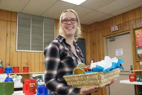 Emily wins basket at Good Shepherd fall festival