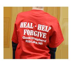 image of back of tshirt