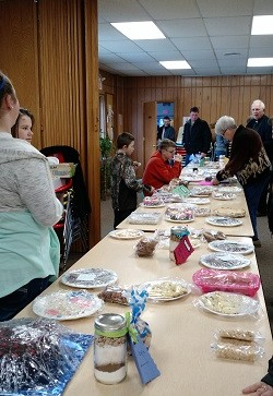 image of table full at bake sale