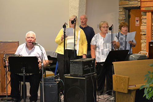 church choir at polka mass