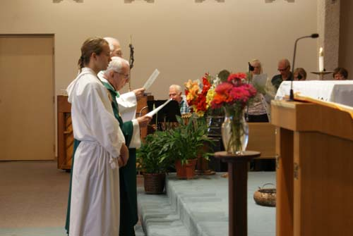view of alter and choir at Good Shepherd fall fest mass