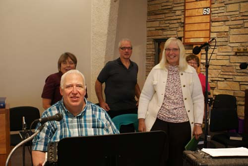 George-Gloria-Mary-Mike-and-Diane sing at Good Shepherd fall fest polka mass