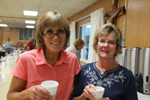 Diane and Joan smile for the camera at Good Shepherd fall fest