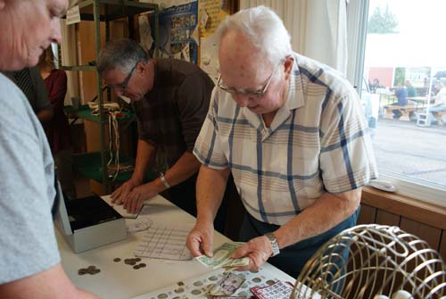 Ken and Neil handle the bingo games at Good Shepherd fall fest