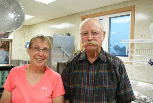 Mary and Ken in kitchen at Good Shepherd fall fest