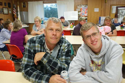 Andy and Donald smile for the camera at Good Shepherd fall fest