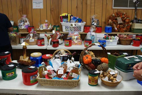 many baskets to choose from at Good Shepherd fall fest raffle