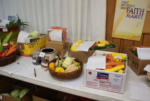 garden produce for silent auction at Good Shepherd fall fest