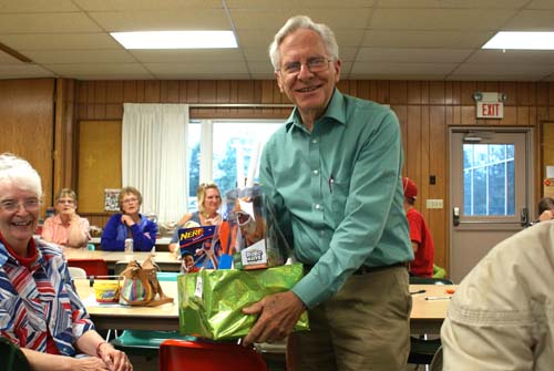 Mike wins basket at Good Shepherd fall fest
