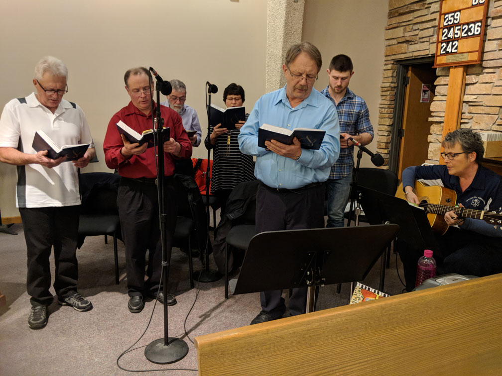 Choir at second Mass at Good Shepherd on Christmas Eve 2018
