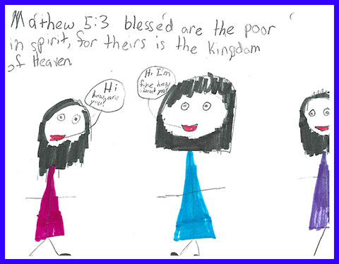 Abby's Beatitudes booklet - Blessed are the Poor in Spirit