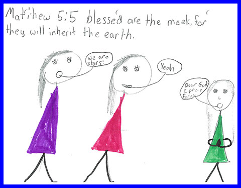 Abby's Beatitudes booklet - Blessed are the meek