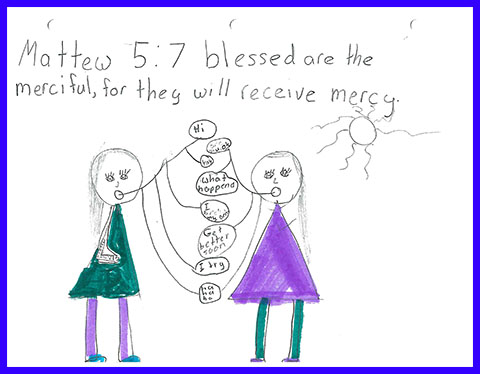 Abby's Beatitudes booklet - Blessed are the merciful