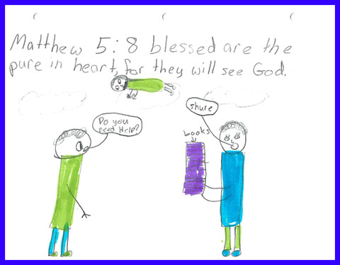 Abby's Beatitudes booklet - Blessed are the pure in heart