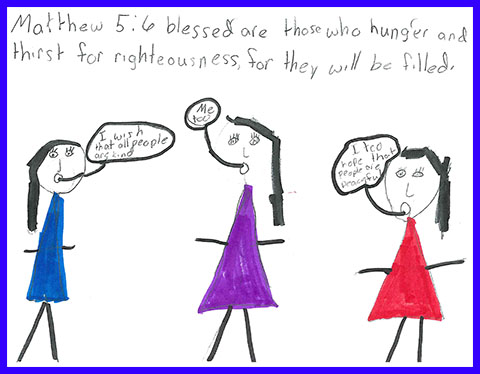 Abby's Beatitudes booklet - Blessed are they who hunger and thirst for righteousness