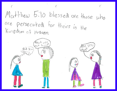 Abby's Beatitudes booklet - Blessed are those who are persecuted