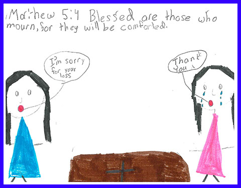 Abby's Beatitudes booklet - Blessed are those who mourn