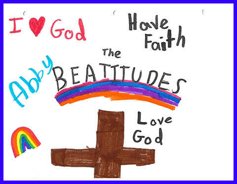 Abby's Beatitudes booklet - Cover