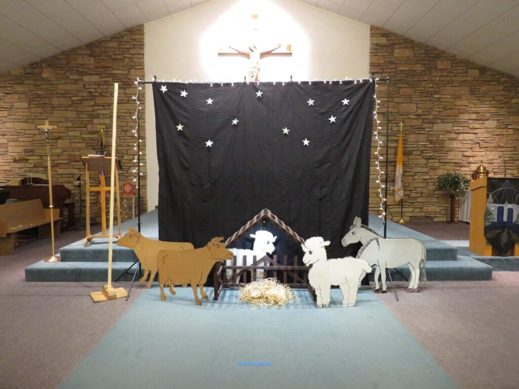 Backdrop for the 2020 Christmas Pageant at Good Shepherd.